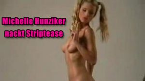 michelle hunziker nackt video